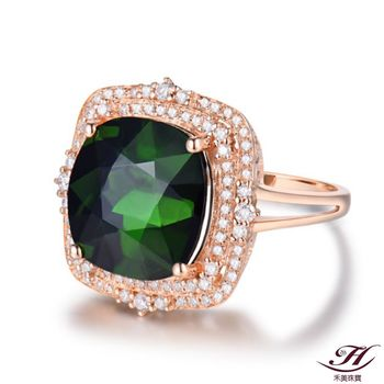 【禾美珠寶】10克拉天然綠碧璽鑽戒YS227(18K)