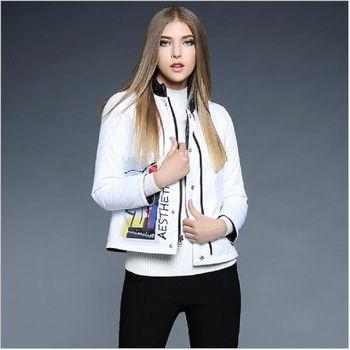 (現貨+預購 RN-girls)-歐美秋冬新款立領正反穿輕薄羽絨棉外套