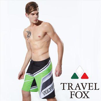【TRAVELFOX 旅狐】休閒風大男寬口泳褲(C15918)