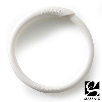 MASSA-G 炫彩動感負離子能量手環-白