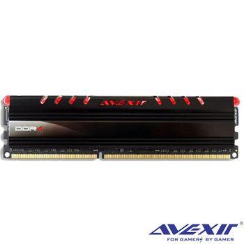 宇惟 AVEXIR 4GB DDR4 2400 紅光 桌上型 RAM 記憶體