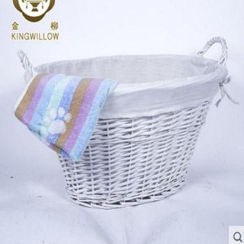 [協貿國際]  家居籐編柳編髒衣服收納籃