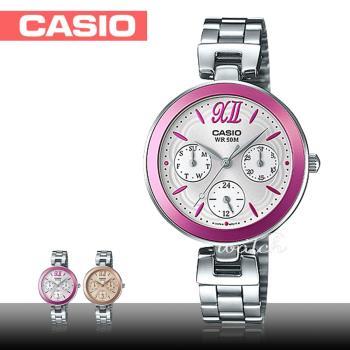 【CASIO 卡西歐】氣質首選_折疊式錶扣_不鏽鋼錶帶_礦物玻璃_防水_指針女錶(LTP-E407D)