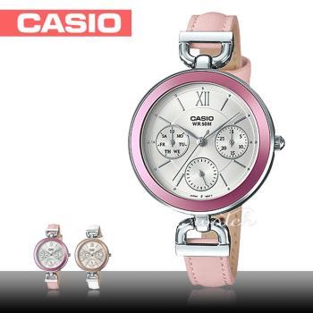 【CASIO 卡西歐】氣質首選_皮革錶帶_礦物玻璃_防水_指針女錶(LTP-E406L)