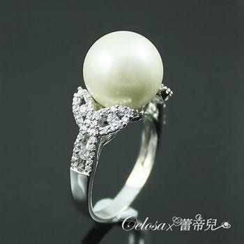 【蕾帝兒珠寶】雅麗白色貝殼珍珠戒指