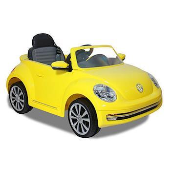 【Goodbaby】福斯Beetle電動車高端版-黃色(可遙控) W486QG-A01