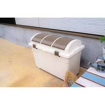 日本 eco container style 三分類 環保多功能收納垃圾桶 - 100L