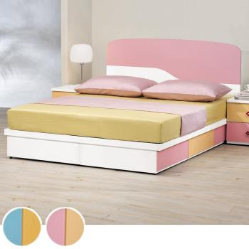Bernice-莫妮5尺床片抽屜型雙人床架(兩色可選)