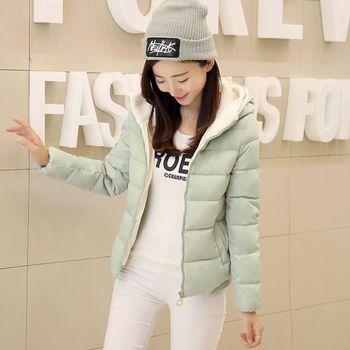 DearBaby 韓系無重力感馬卡龍色系羔羊毛帽短版外套(預購)