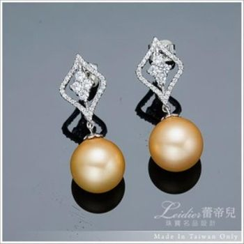 【蕾帝兒珠寶】甜蜜時刻金色貝殼珍珠耳環