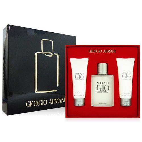 GIORGIO ARMANI 亞曼尼 寄情水男性香水禮盒 黑紅精美禮盒版