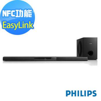 福利品-PHILIPS飛利浦 SoundBar 2.1CH無線重低音喇叭 HTL5140B/98