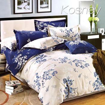 【KOSNEY】 幸福樹 單人精梳棉三件式床包被套組MIT台灣製造