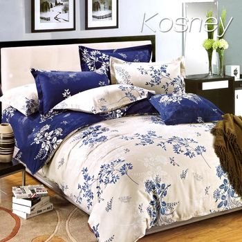 【KOSNEY】 幸福樹 加大精梳棉四件式床包被套組MIT台灣製造