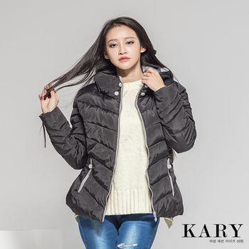 【KARY】韓版冬季必備款厚款連帽羽絨外套