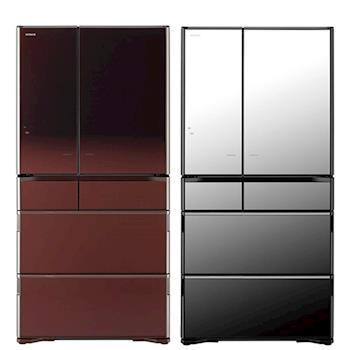 日立HITACHI 日本原裝 業界最大容量 730公升 琉璃鏡面變頻六門電冰箱 RX730GJ / R-X730GJ