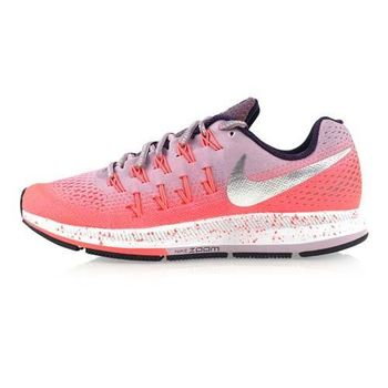 【NIKE】AIR ZOOM PEGASUS 33 SHIELD女慢跑鞋 紫粉橘