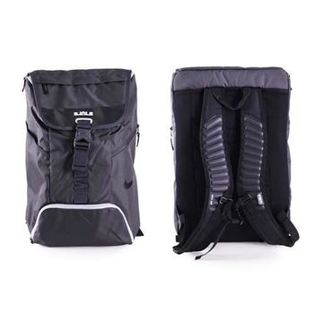 【NIKE】籃球後背包-雙肩包 MAX AIR氣墊 黑灰