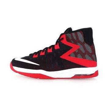 【NIKE】AIR DEVOSION-GS 女高筒籃球鞋 黑紅白