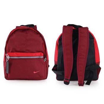 【NIKE】男女兒童經典後背包-雙肩包 暗紅