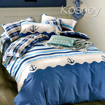 【KOSNEY】 海賊王 精梳棉單人床包雙人被套組MIT台灣製造
