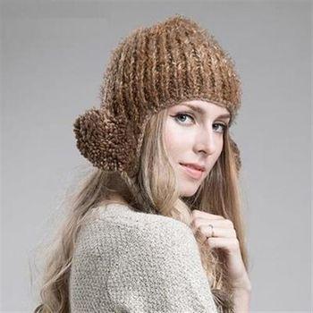 【米蘭精品】毛帽針織羊毛帽韓版時尚休閒百搭女帽子2色73id10