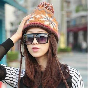 【米蘭精品】毛帽針織羊毛帽韓版時尚可愛毛球女帽子73id14