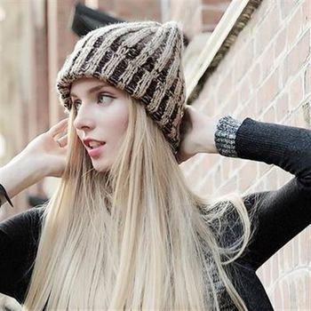【米蘭精品】毛帽針織羊毛帽韓版簡約保暖滑雪帽子6色73id18