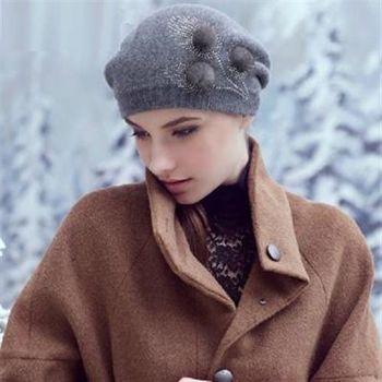【米蘭精品】毛帽針織羊毛帽韓版潮流純色保暖女帽子73id21