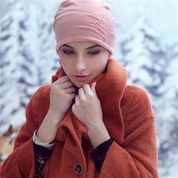 【米蘭精品】毛帽針織羊毛帽時尚簡約水晶保暖女帽子73id25