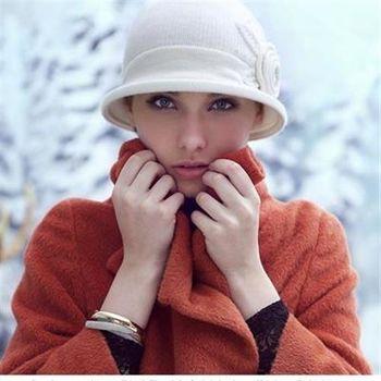 【米蘭精品】毛帽針織羊毛帽韓版流行甜美花形女帽子73id26