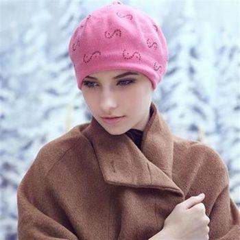 【米蘭精品】毛帽針織羊毛帽韓版時尚S形水晶女帽子73id29