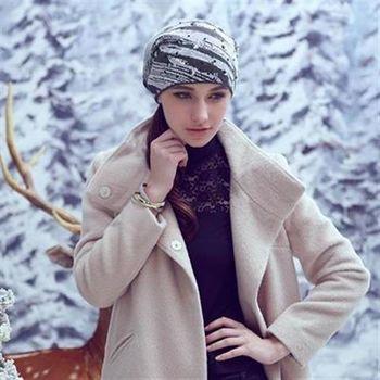 【米蘭精品】毛帽針織羊毛帽韓版潮流混色休閒女帽子73id36