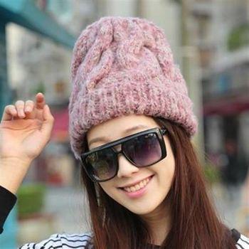 【米蘭精品】毛帽針織羊毛帽韓版浪漫秋冬保暖女帽子3色73id43