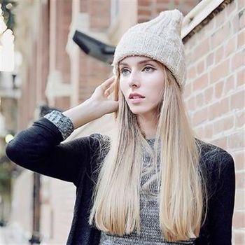 【米蘭精品】毛帽針織羊毛帽韓版保暖親膚瘦臉男女帽子7色73id44