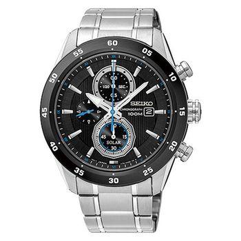 SEIKO 精工 登峰造極三眼碼錶計時不鏽鋼腕錶/42mm/V176-0AR0D(SSC531P1)