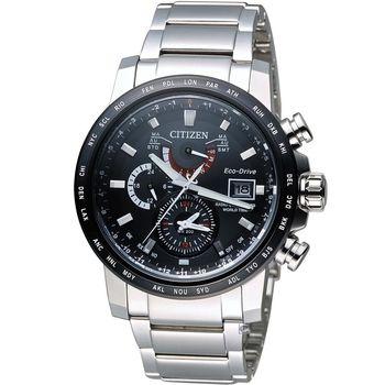 CITIZEN Eco-Drive 星辰 極光時尚電波腕錶 AT9071-58E 黑
