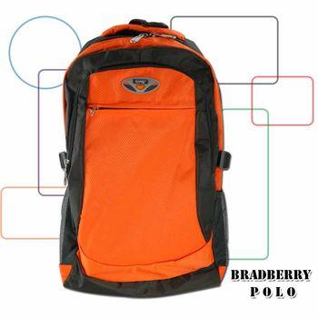超輕量背包UN-009尼龍後背包/大容量/減壓透氣背帶-橘