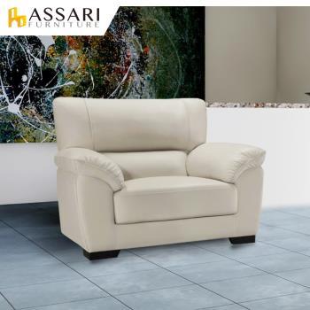 ASSARI-查理斯單人貓抓皮沙發