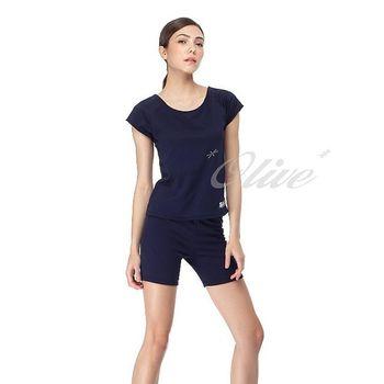 【沙兒斯品牌】時尚素雅二件式短袖泳裝 NO.B92396