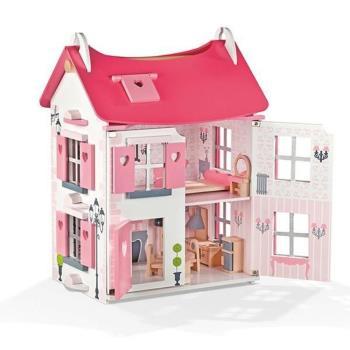 【法國 Janod】Dolls House-粉夢幻娃娃屋