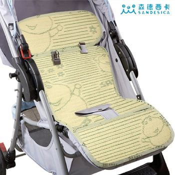 SANDESICA 亞麻草推車涼席坐墊 嬰兒推車汽座涼墊
