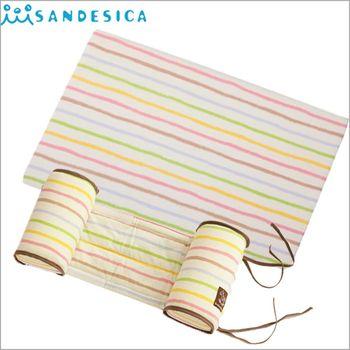 【日本代理 SANDESICA】嬰兒定型枕防側翻枕頭+三角枕 嬰兒防吐奶枕