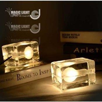 【光的魔法師】設計師系列design house block 冰塊檯燈 北歐美式時尚創意書桌床頭臥室 宜家書房 冰塊台燈