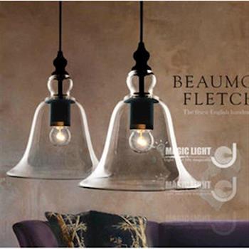 【光的魔法師】現代美式鄉村北歐宜家風格複古水晶鈴鐺吊燈 Loft吊燈