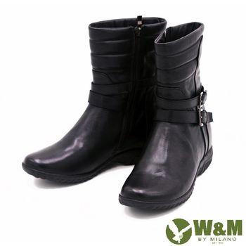 W&M 秋冬季英倫厚底短筒靴 女鞋-黑(另有棕)