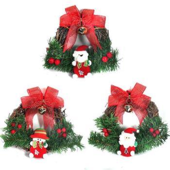 聖誕布偶樹藤花圈對組(一組兩入)(三選二隨機出貨)