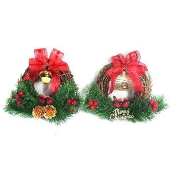 聖誕鈴鐺樹藤花圈對組(一組兩入)