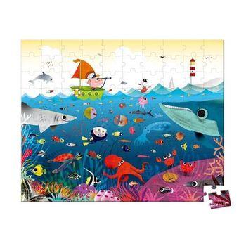 【法國 Janod】厚片拼圖-海底世界100pcs