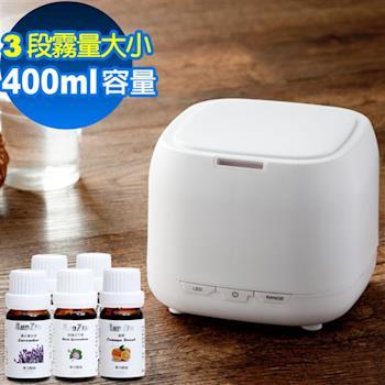 ANDZEN 日系風格負離子水氧機(AZ-2400七彩燈)+送來自澳洲單方純精油10mlx5瓶